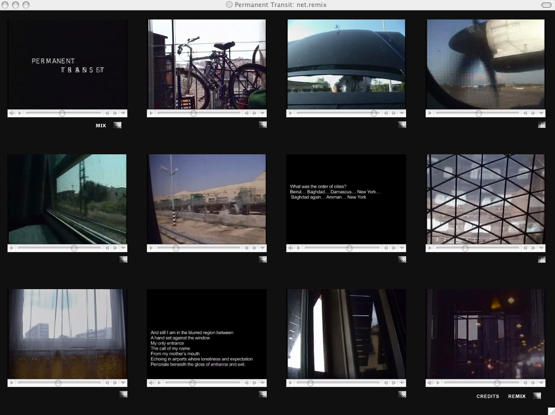 Mariam Ghani, Permanent Transit: net.remix screenshot