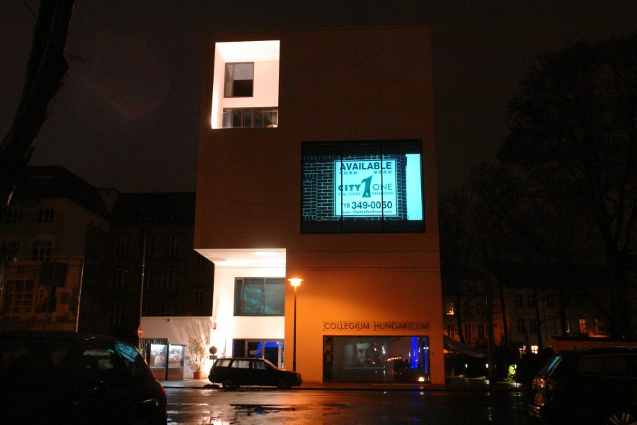 Mariam Ghani, Going Going Gone, video installation, Collegium Hungericum, Berlin, 2009