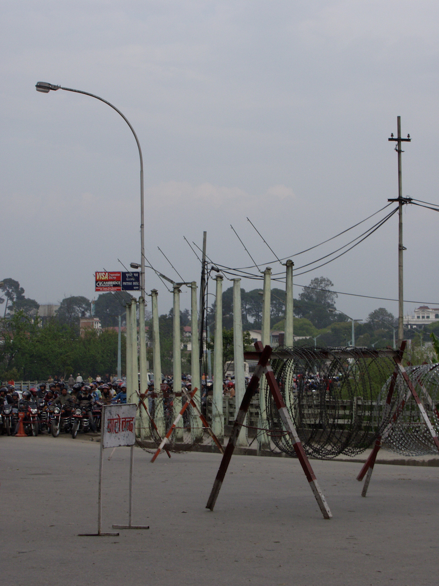 Speculations, Photo 2, gasoline queue, Kathmandu, 2006