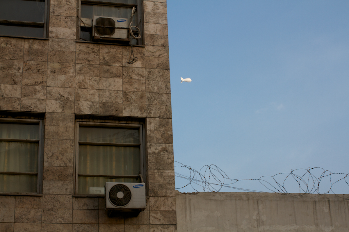 Speculations, Photo 149, Surveillance blimp, Kabul, 2014