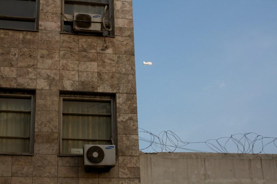 Speculations, Photo 149, Surveillance blimp, Kabul, 2014
