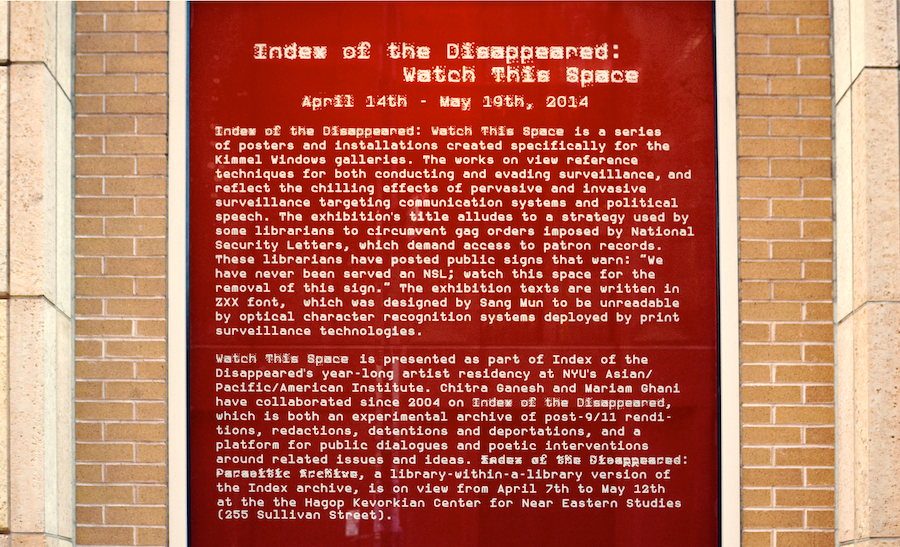 Index of the Disappeared: Watch This Space