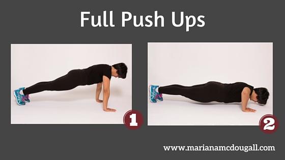 Full push ups