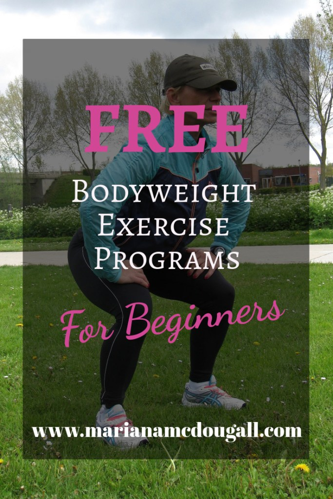 free bodyweight exercise programs for beginners on www.marianamcdougall.com