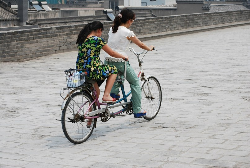 cycle touring with children, tandem bicycle