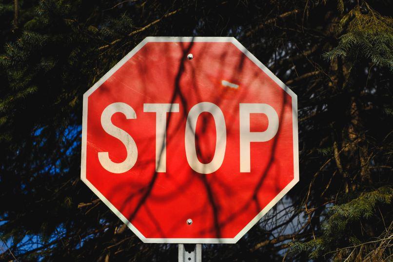 homeschooling myths, stop sign, Photo by Michael Mroczek on Unsplash