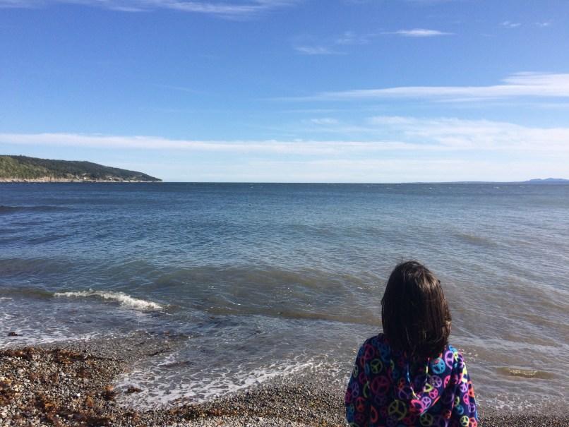 girl looking at atlantic ocean; the freedom of homeschooling, www.marianamcdougall.com