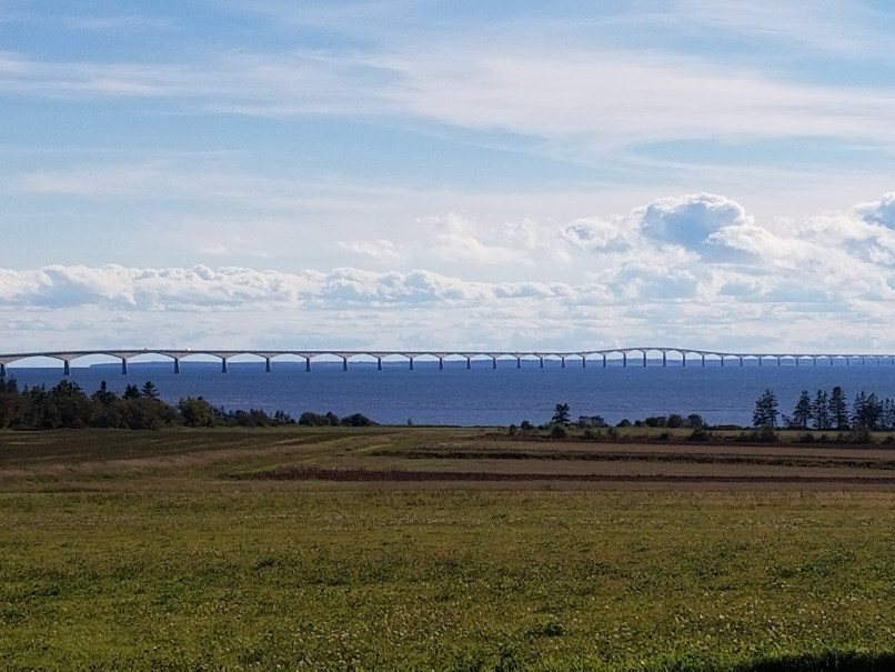 Confederation Bridge as seen from PEI