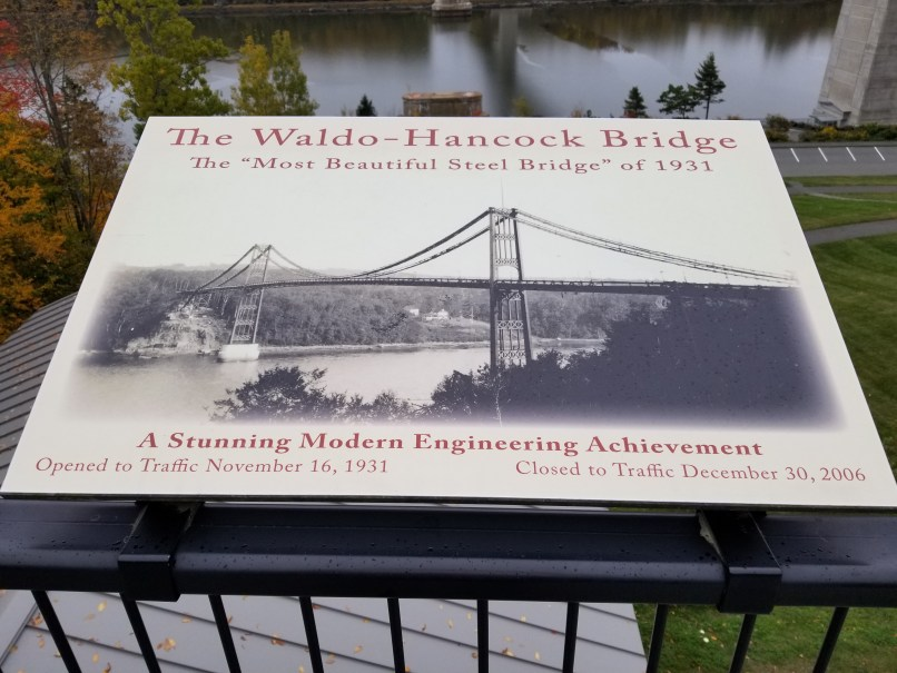 Waldo-Hancock Bridge Interpretive Panel