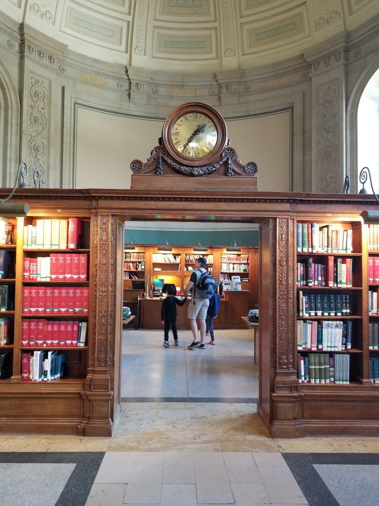 Boston Public Library clock
