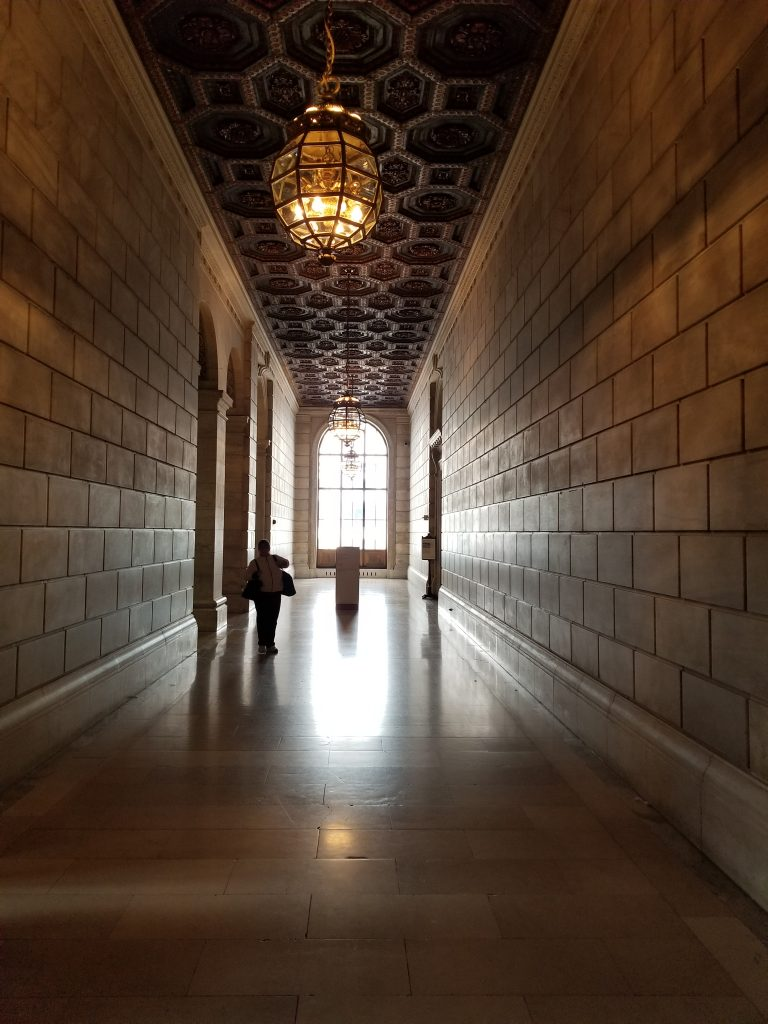 NYC Public Library Hallway & Ceiling, RVing with kids, family travel