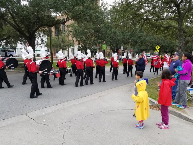 Marching band at Savannah Veteran's Day Parade