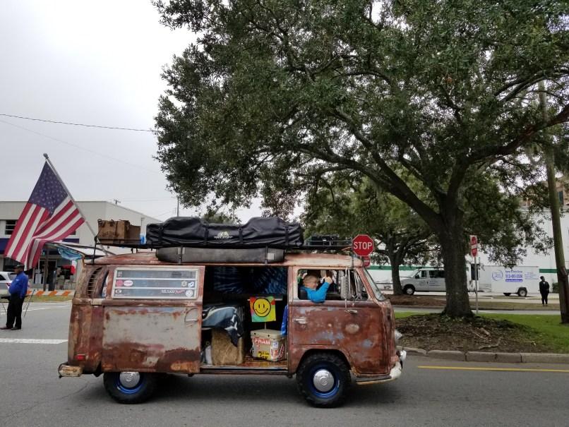 Volkswagen Bus at Savannah Veteran's Day Parade