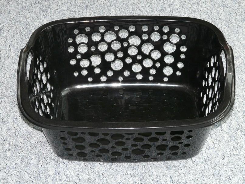 empty Black laundry basket