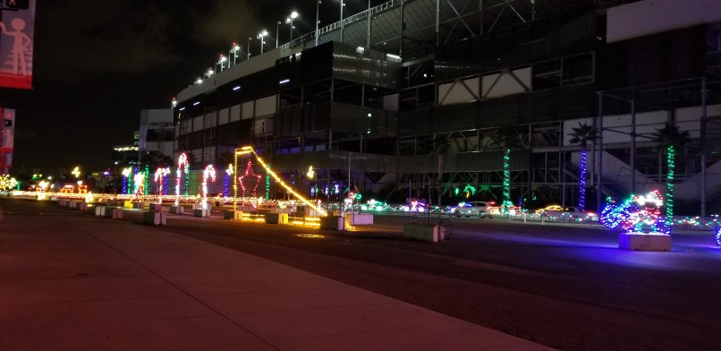 Christmas light displays at Daytona International Speedway