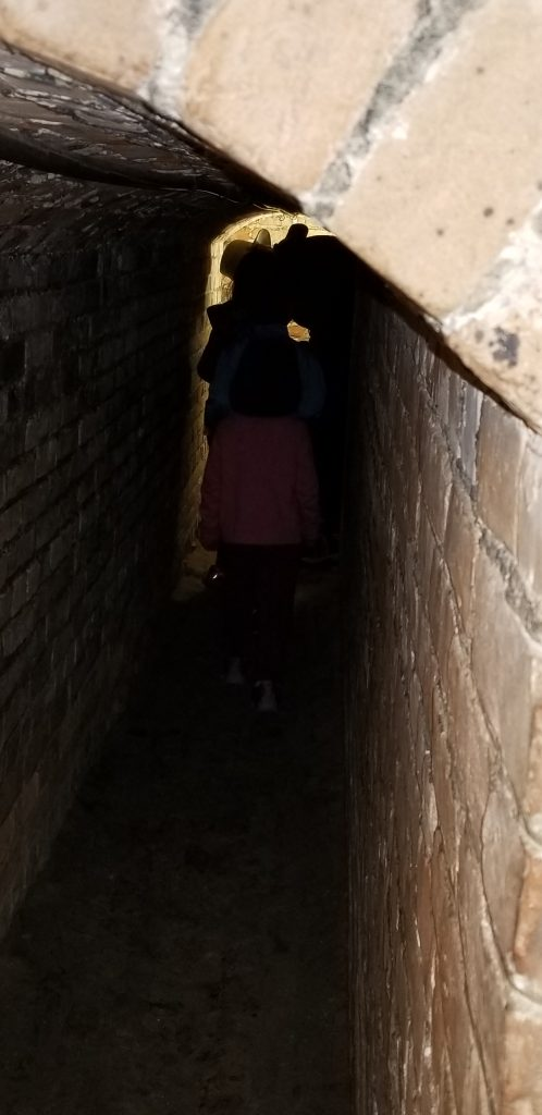 Narrow hallway in Fort Pickens, Pensacola, Florida