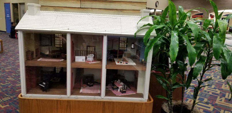 Dollhouse at the Sterling Public Library in Baytown, Texas, displaysa wicker chair that has been made on their 3D printer.