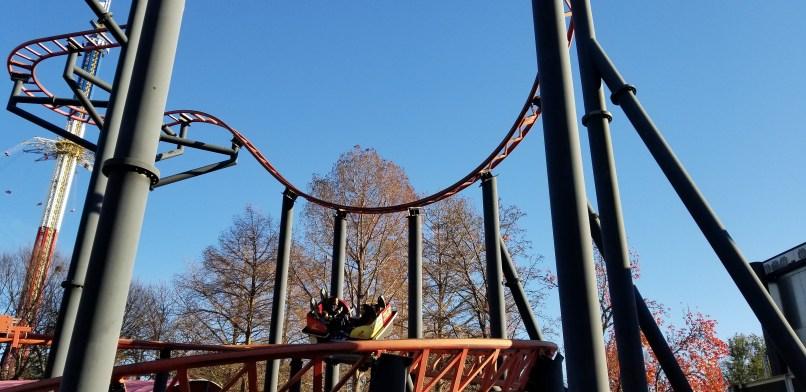 Pandemonium roller coaster at Six Flags Over Texas