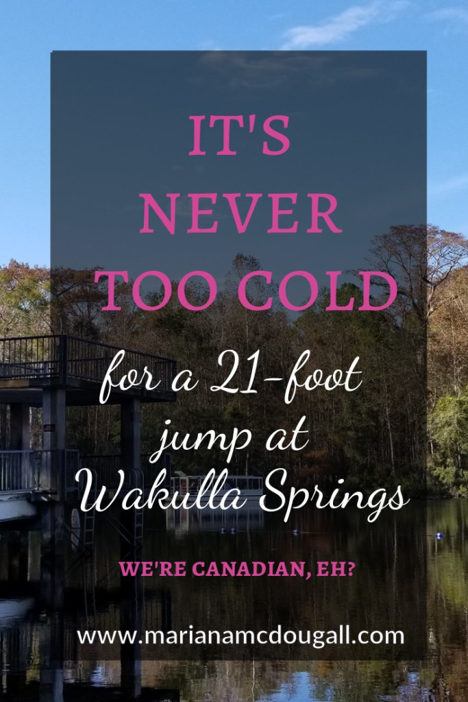 It's never too cold for a 21-foot jump at Wakulla Springs. www.marianamcdougall.com. Picture of dive tower at Wakulla Springs State Park, Florida