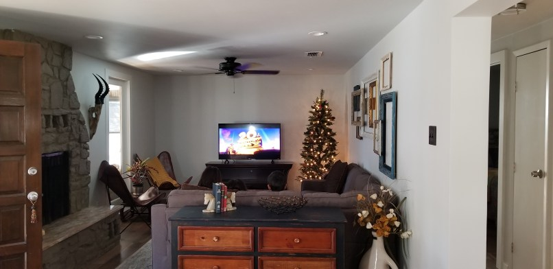 Hangout on Hidden Cove airbnb in Granbury, Texas, living room