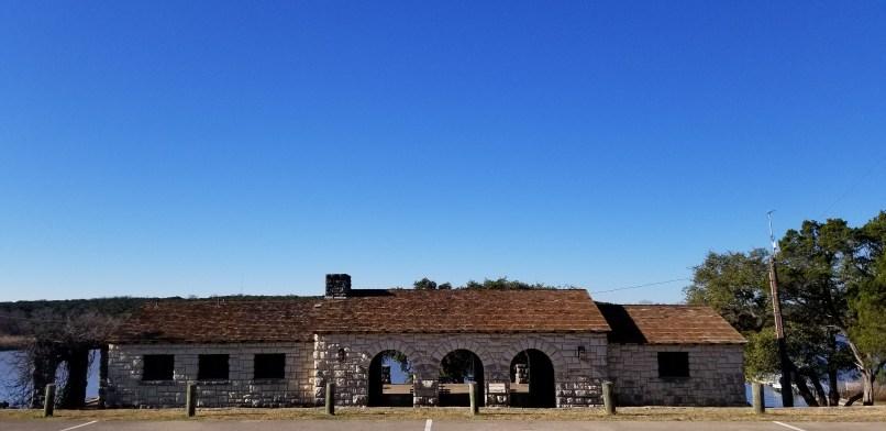Brick building at Meridian State Park, Texas