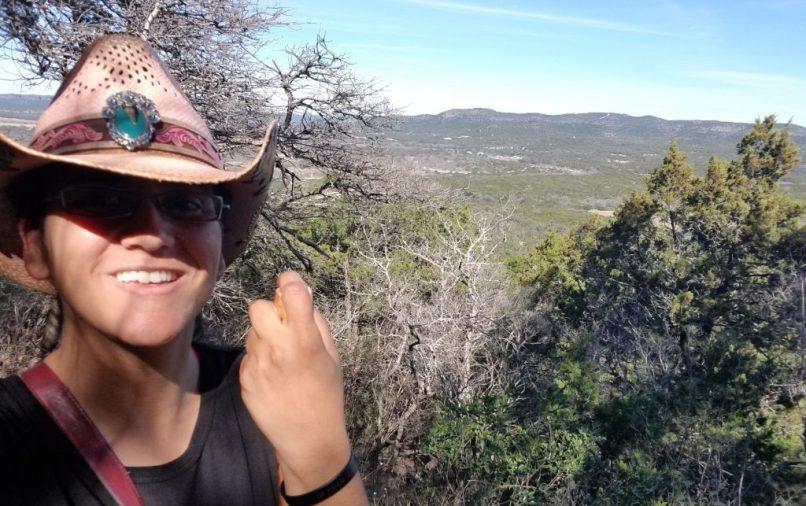 Mariana at Bridges Trail, Garner State Park.
