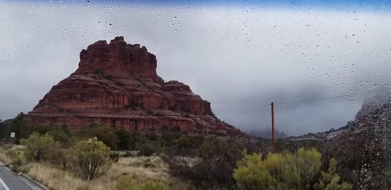 A brown rocky mountain in Sedona, Arizona.