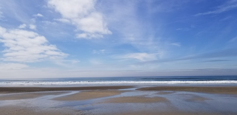 Silver Strand Beach. Sand, ocean, blue sky with some white clouds