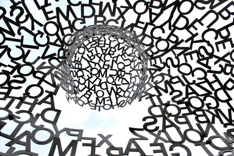 Several letters arranged in a spiral. Free language arts resources for homeschoolers on www.marianamcdougall.com. Photo by Nathaniel Shuman on Unsplash
