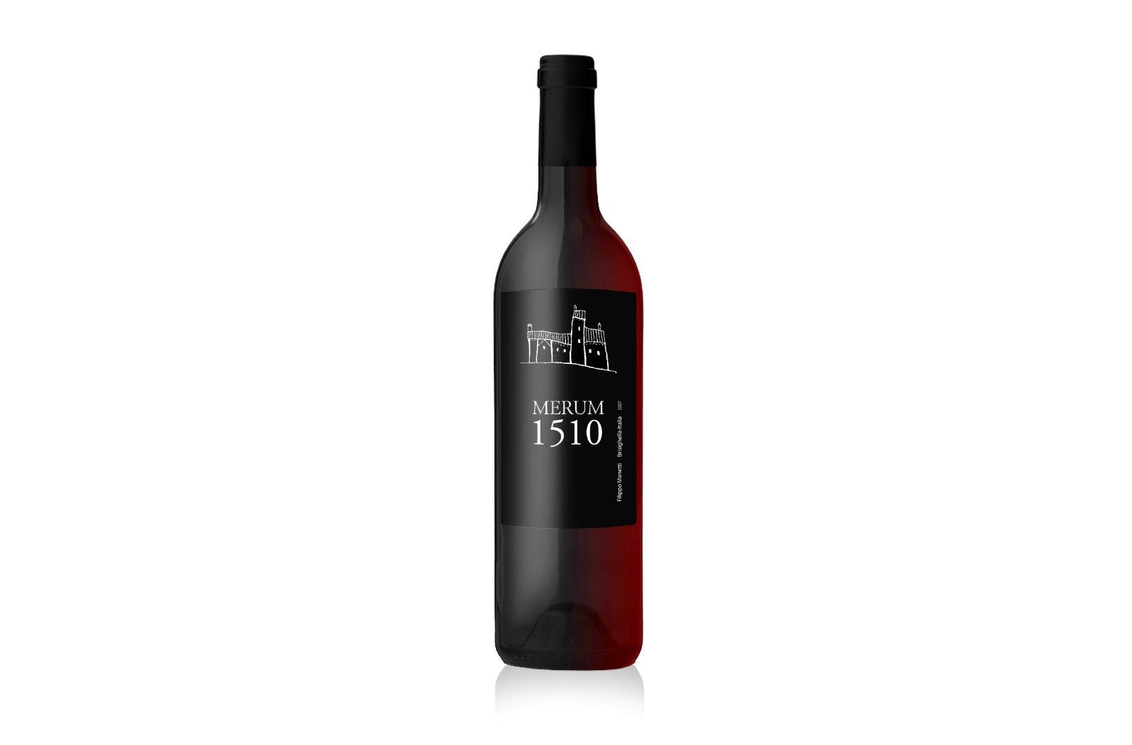 Etichetta vino Merum 1510
