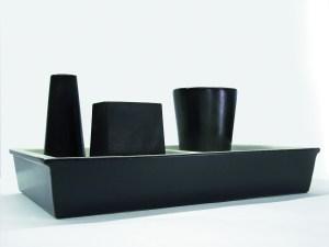 Foto Ofelia vaso da fiori in ceramica colore nero