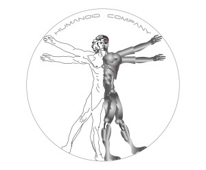Logo uomo vitruviano bionico per Humanoid Company