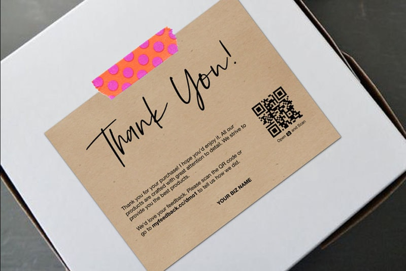 Thank you card con codice promo di Crafty Code. Dizionario di grafica di Marianna Milione
