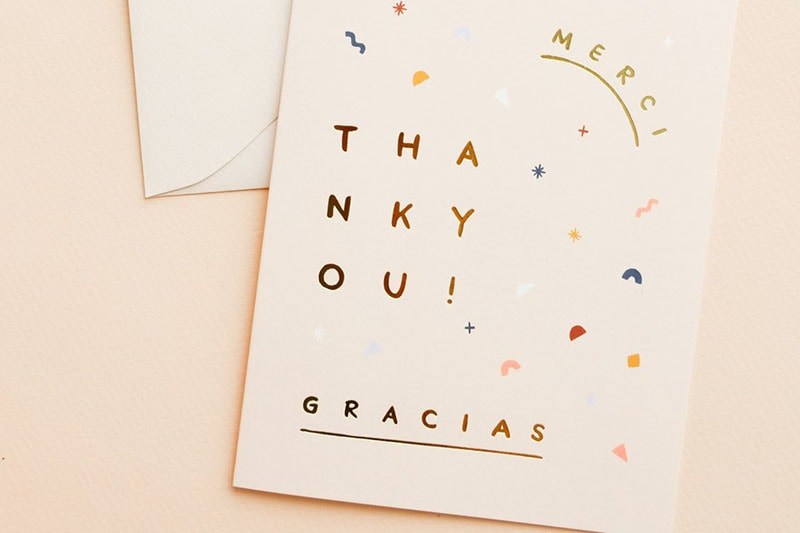 Thank you card di Leif Shop. Dizionario di grafica di Marianna Milione