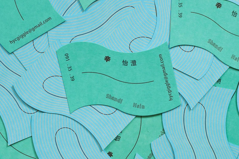Biglietto da visita di Shand Hsin. Dizionario di grafica di Marianna Milione