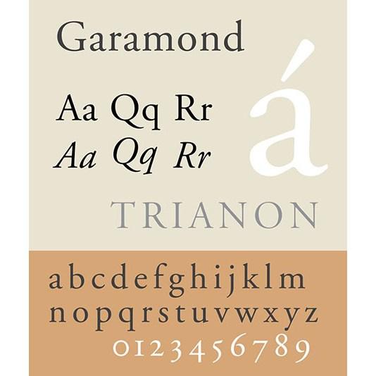 Carattere tipografico Garamond. Dizionario di grafica di Marianna Milione