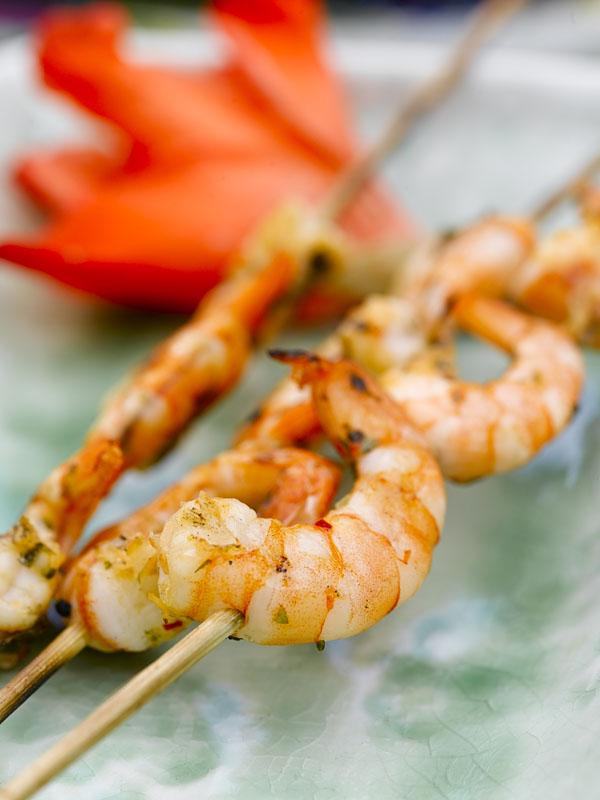 Oppskrift på chili- og koriandermarinade til scampi
