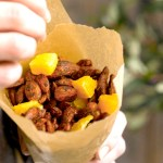 Kanel- og kakaomandler med appelsin