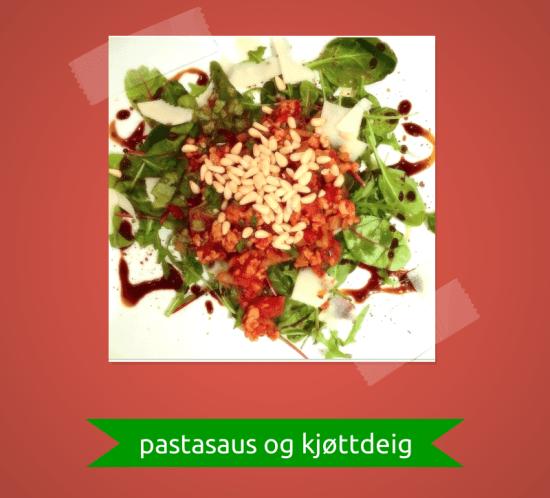Ingeniørfruens enkle og raske middag på budsjettt - pastasaus og kjøttdeig