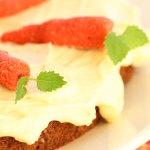 Glutenfri gulrotkake med melkefritt kremostfyll