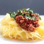 [MAT]Spaghettisquash med kjøttdeigragu