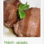 Rå cashewnøtt-is med sjokoladesmak