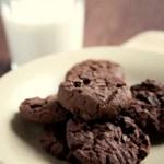 Sjokoladekjeks med sesam-mel