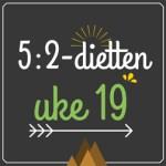 Forslag til 5:2-diett dagsmeny for 2 av ukens dager, uke 19