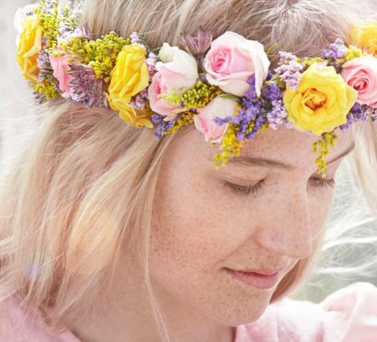 Trend sommeren 2015 - blomsterkrans i håret