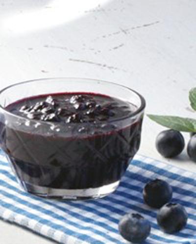 Oppskrift på sukkerfrie rørte blåbær med sukrin