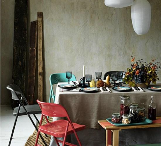 Høstbord – moderne og rustikt på samme tid. ©FOTO: IKEA livet hemma