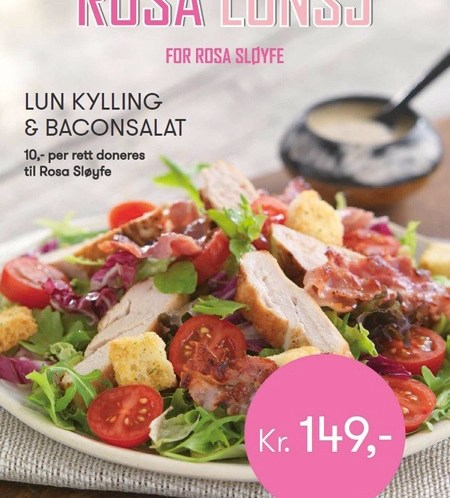 #rosalunsj - Rosa meny på 40 kafeer og restauranter i oktober