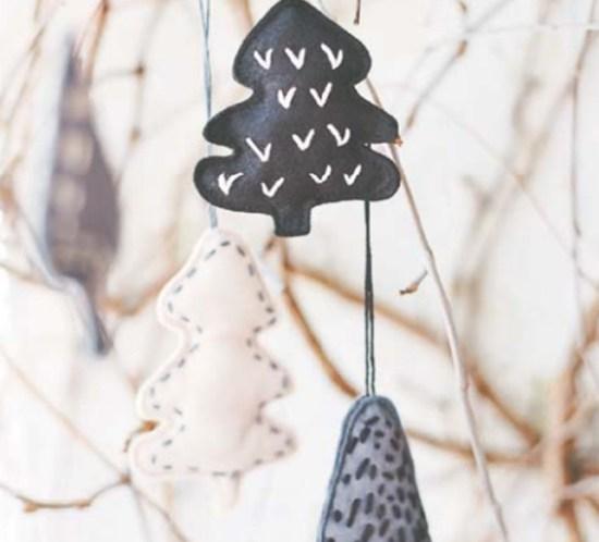 DIY Mønster til juletrær av filt