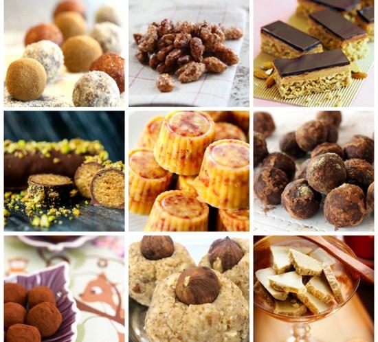 JULENS-SØTE-SAKER---konfekt,-marsipan,-trøfler,-risboller,-karameller